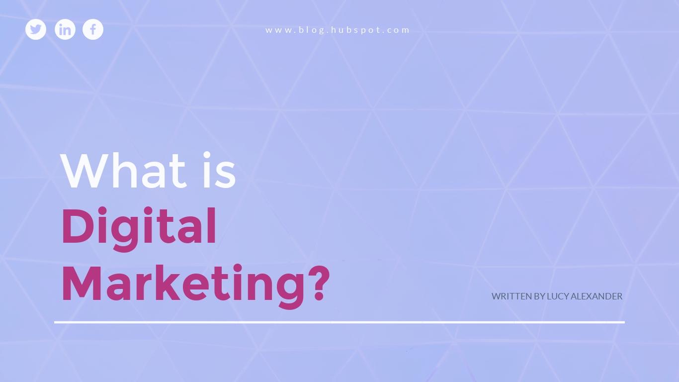 Digital Marketing - Presentation Template
