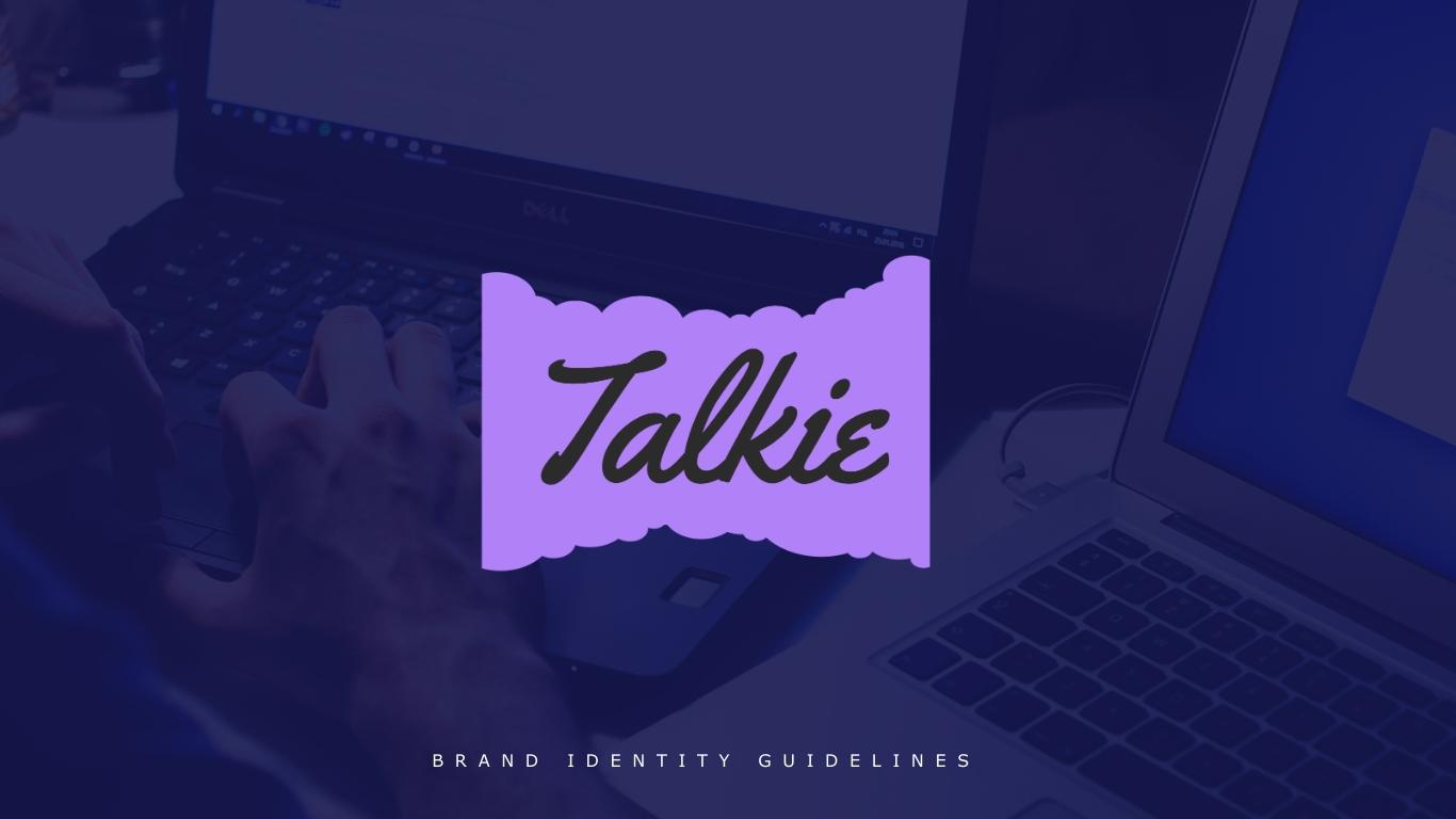 Talkie - Brand Guidelines Presentation Template
