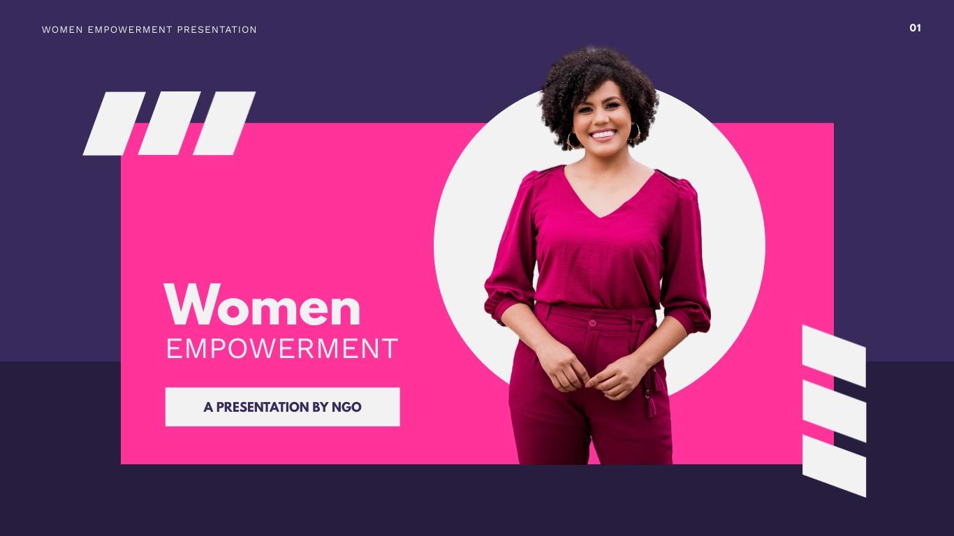 Women Empowerment Presentation  Template